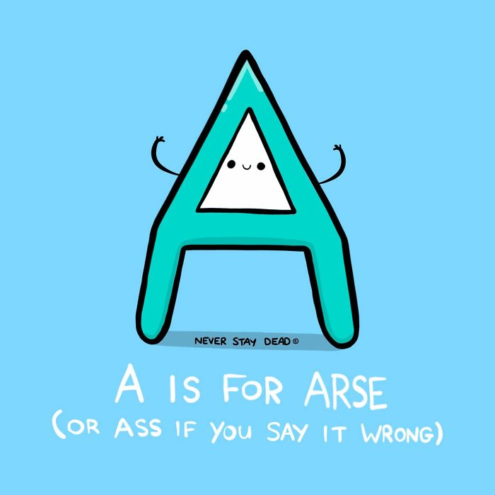 Cute And Offensive Alphabet