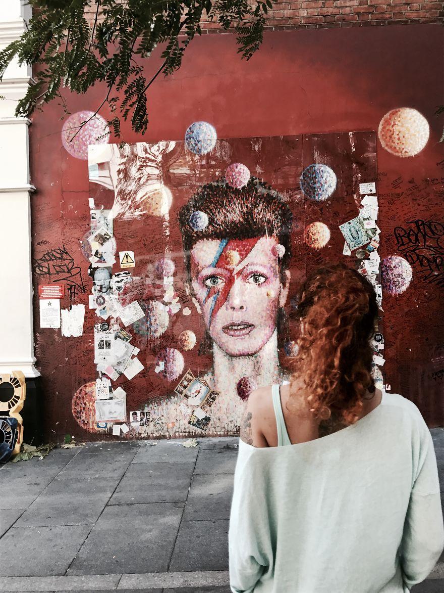 London, The U.k., 2017. Found A Starman