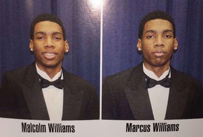 Foto Malcolm dan Marcus di buku tahunan