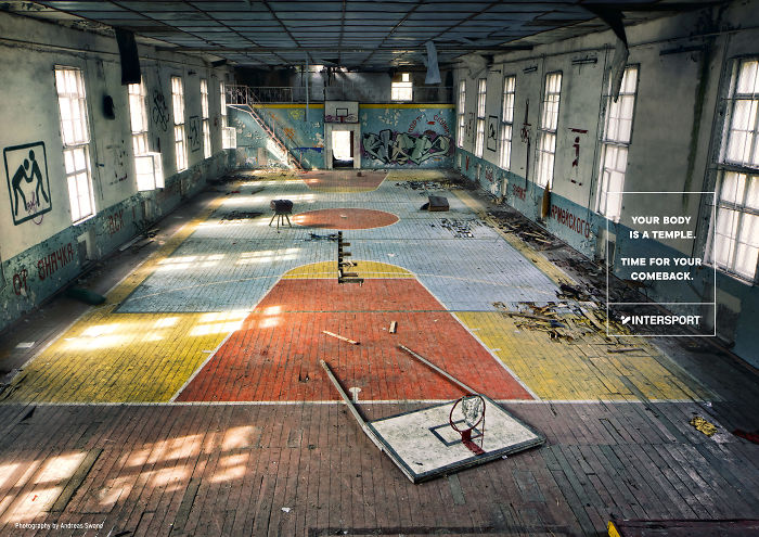 Intersport Is Turning Abandoned Sports Facilities Into Motivational Print Ads
