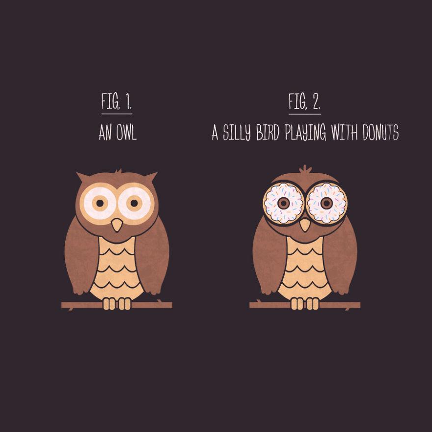 Owl Or Donut Bird