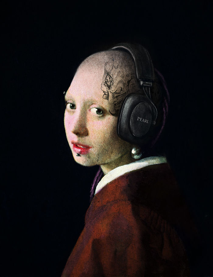 Girl With Pearl Headphones