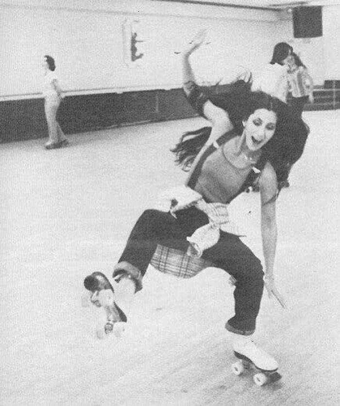 Cher Rollerskating