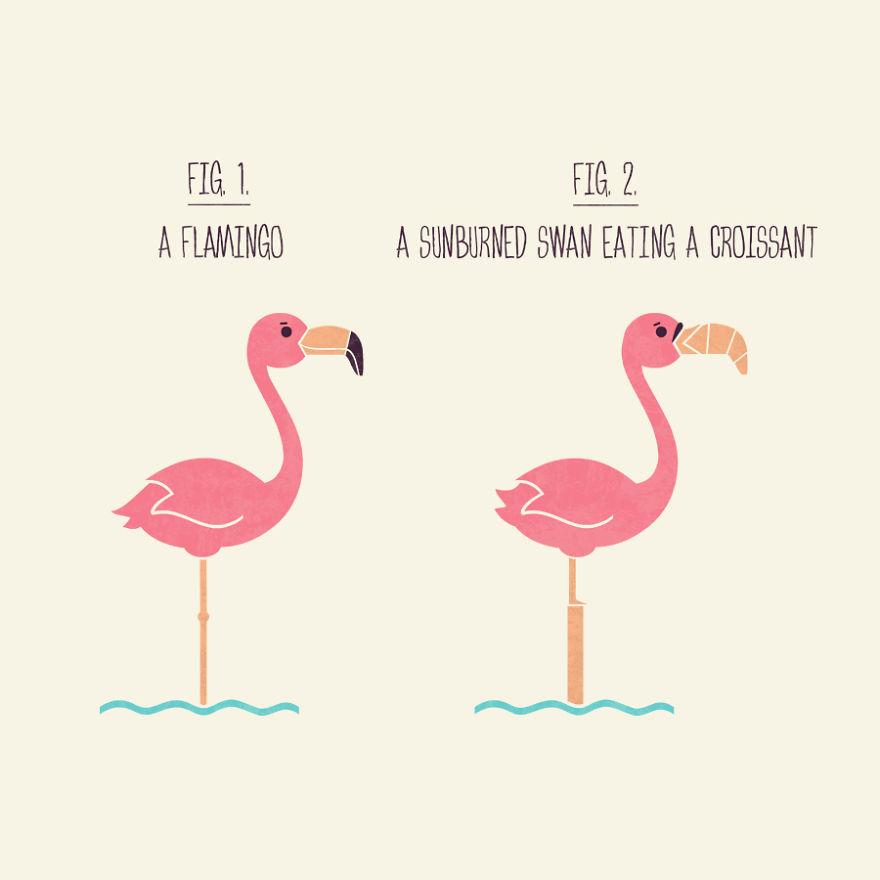Flamingo Or Sunburned Swan