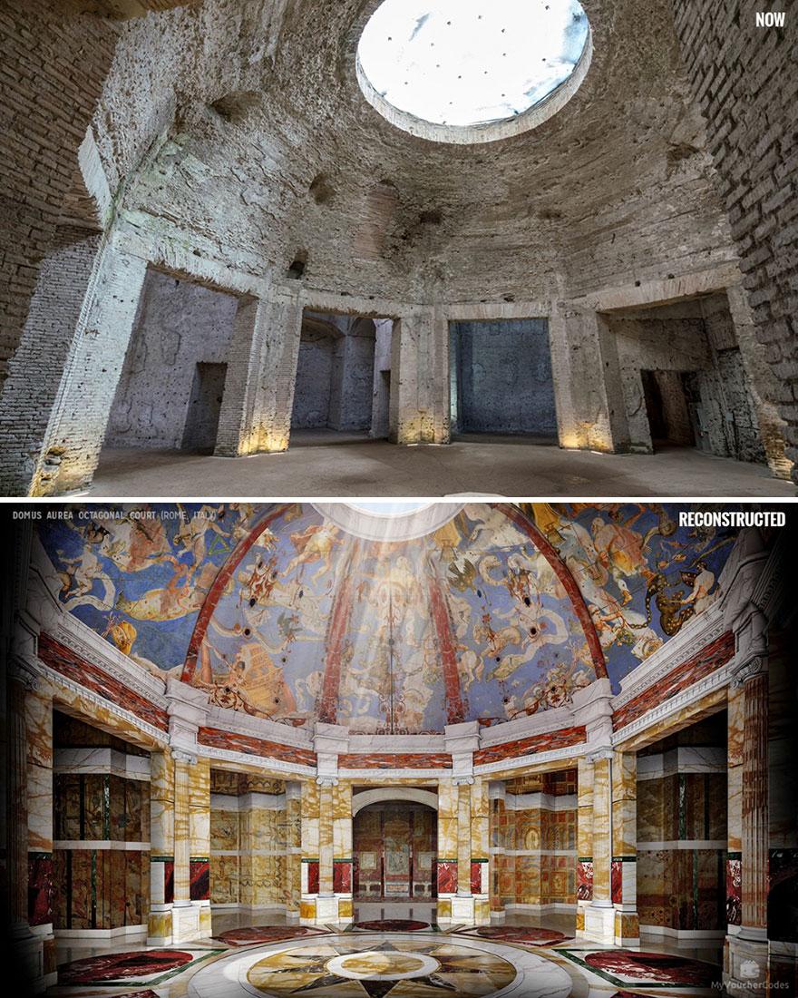 Domus Aurea nyolcágú bíróság (Róma, Olaszország)