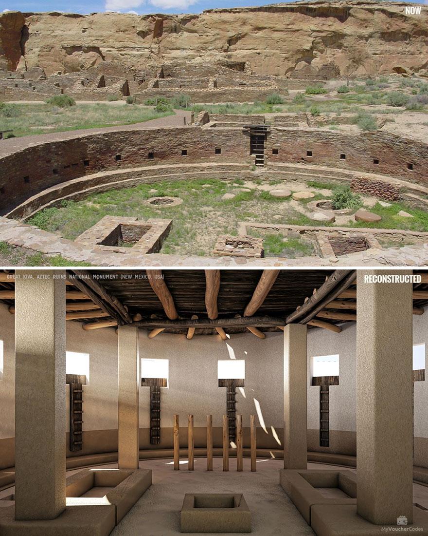 Nagy Kiva, Aztec romok nemzeti emlékmű (Új-Mexikó, Egyesült Államok)
