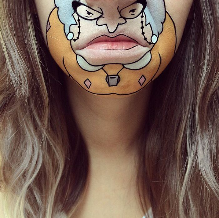 This Artist Turns Her Lips Into Pop Culture Characters