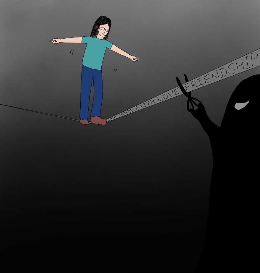 Struggling On The Tightrope