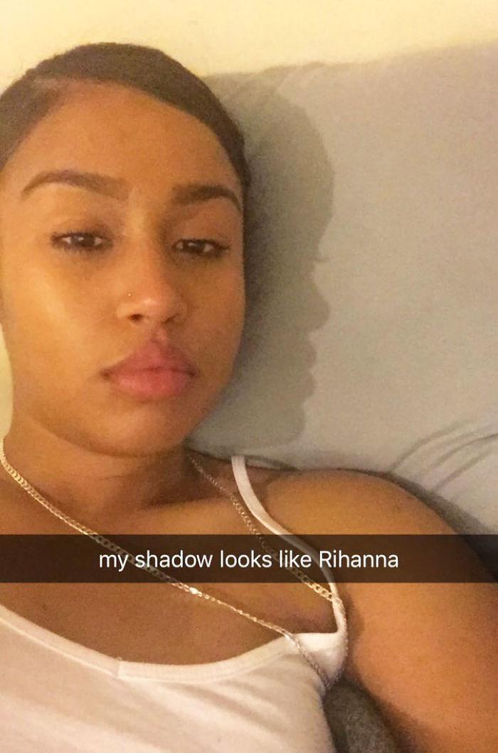 I Noticed That My Shadow Looked Like Rihanna