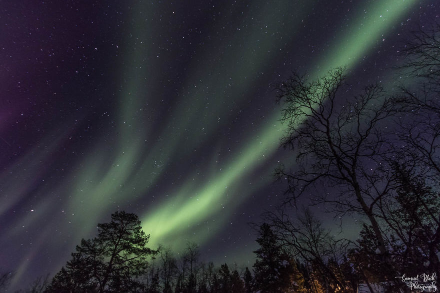 In The Night, Northern Lights Appeared In The Sky (Then It Was Not Warm Anymore At All)