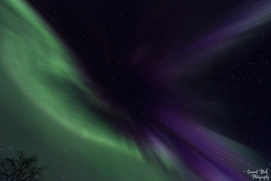 Northern Lights In The Sky Of Lapland