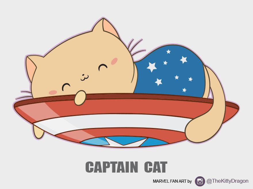I Drew Marvel Characters As Cute Kitties | Bored Panda