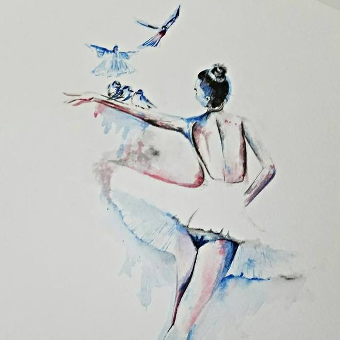 I Drew An Art Sketch Of An Elegant Ballerina