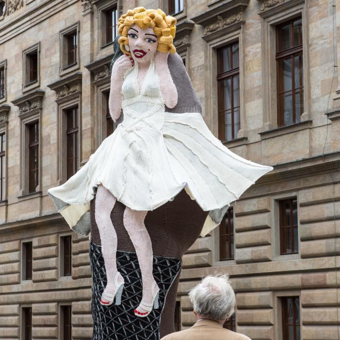 Knitted Marilyn In Prague