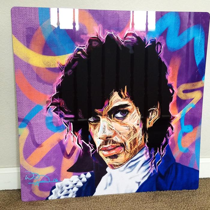 Purple Enerflo: A Portrait Of Prince In An Unusual Technique