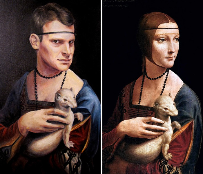 Oil Painting Parodies: Swapping Heads Using Old Paintings
