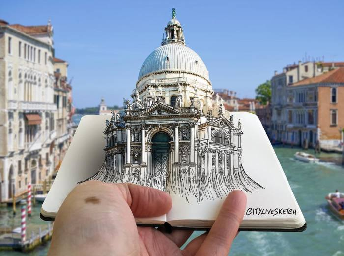 Artist Blends His Drawings With Photography To Mess With Your Brain