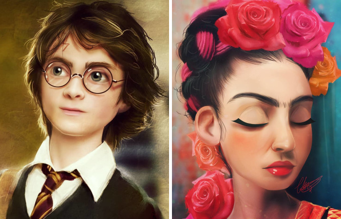 This Artist Draws Pop Culture Characters In Her Own Unique Style, And The Result Is Lovely