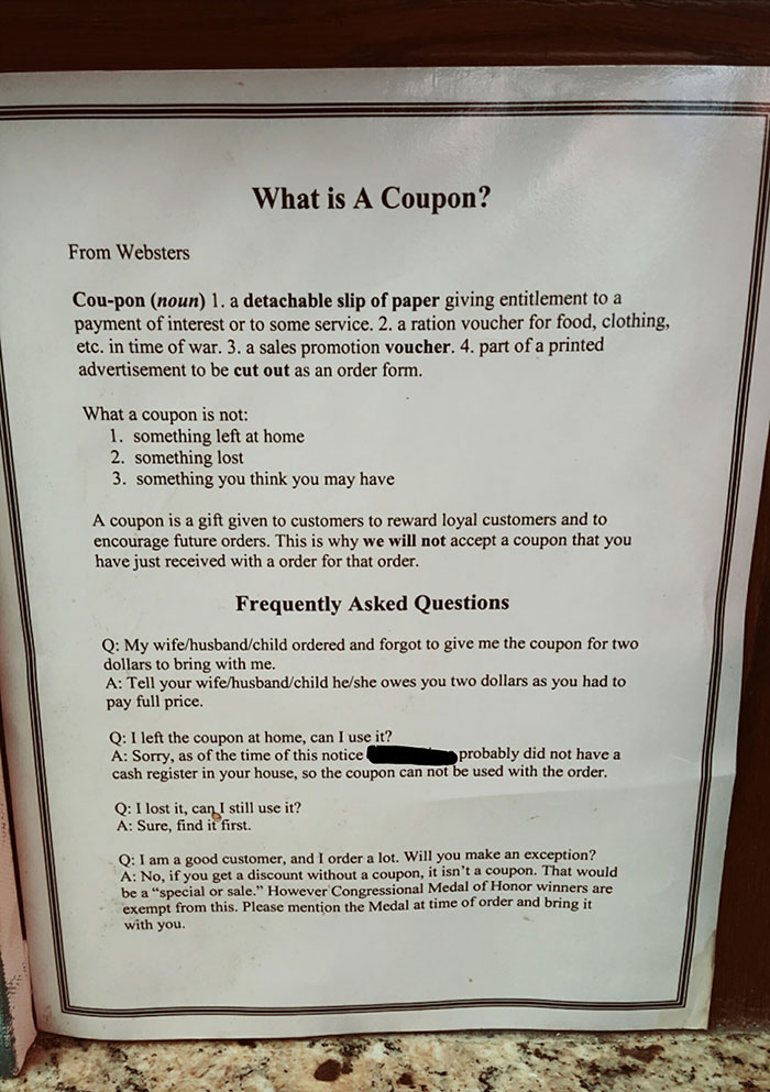 Local Pizza Place Is Not F**king Around About Coupons