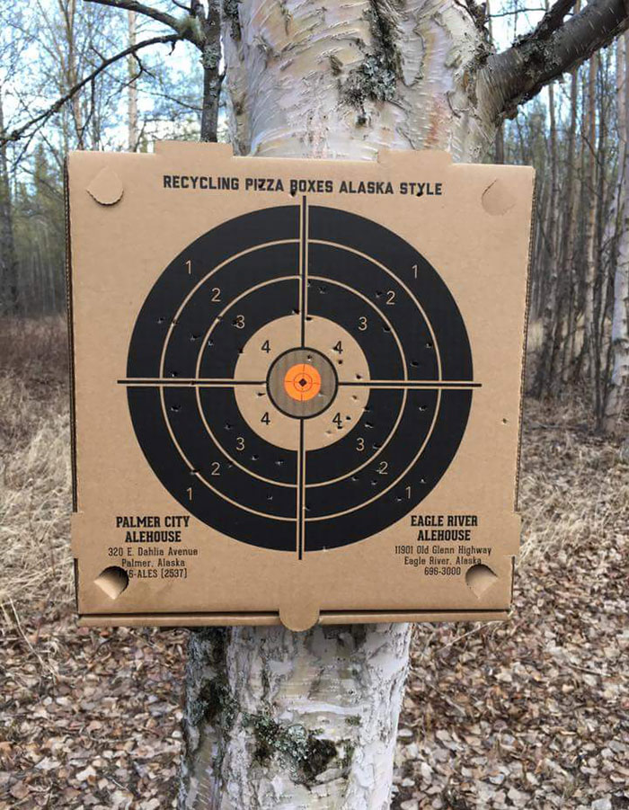 Alaska Pizza Place Has Boxes That Double As Targets For Shooting