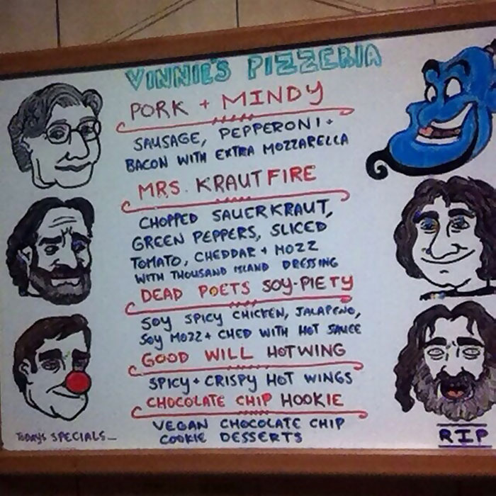 My Friend Works At A Pizza Place In Brooklyn. He Posted Today's Specials