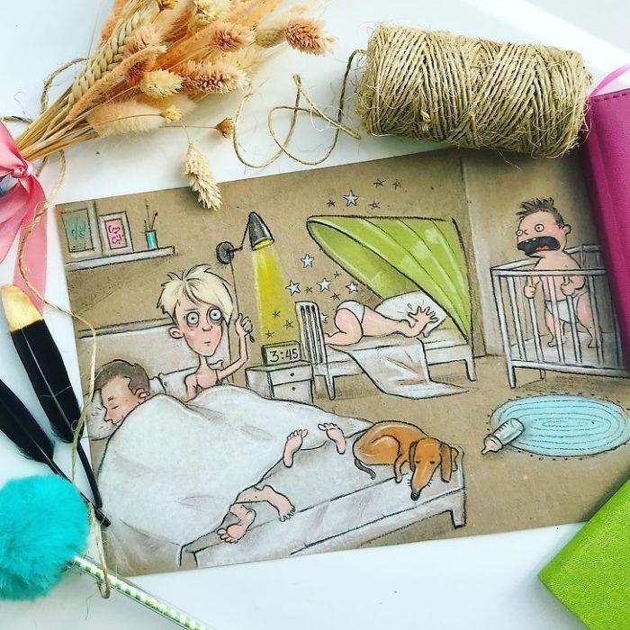 Πώς είναι να είσαι μητέρα δυο παιδιών μέσα από 8 καταπληκτικά σκίτσα - εικόνα 1