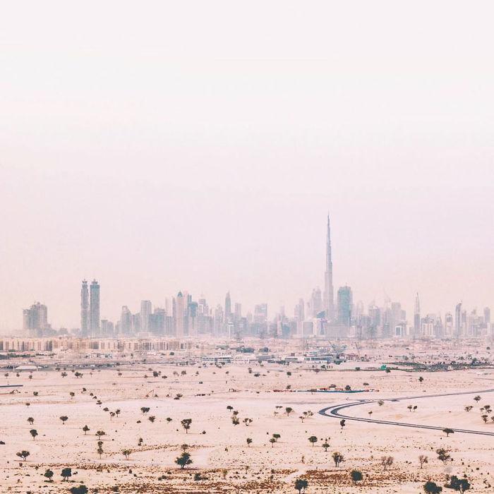 City In Haze (Dubai, United Arab Emirates)