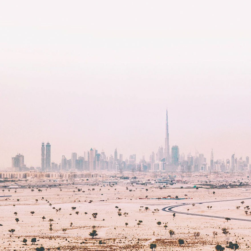City In Haze (Dubai, United Arab Emirates)