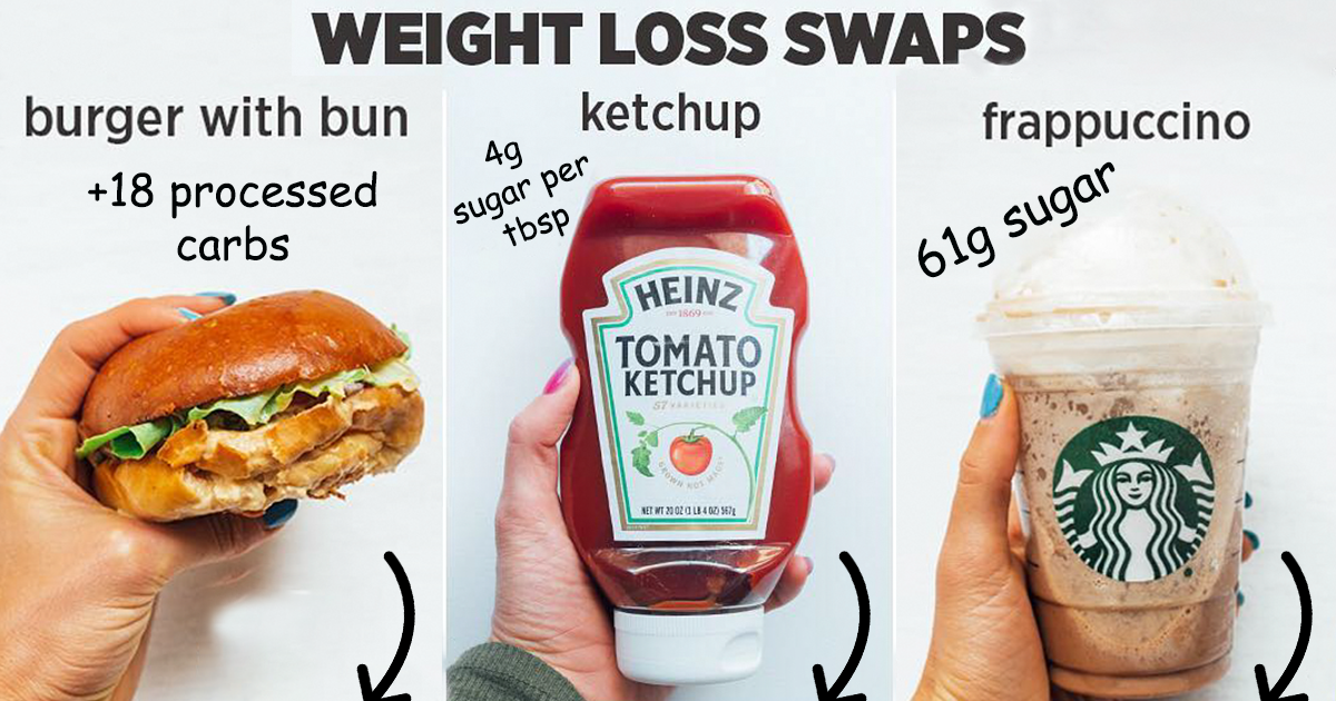 Woman Shows How Easy It Is To Lose Weight By Making 39 Genius Food Swaps