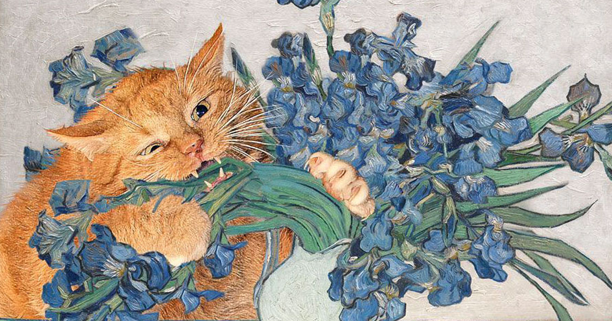 Fat Cat Art: I Insert My Ginger Cat Into Famous Paintings (20+ New Pics)