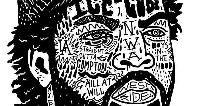 I Drew Famous Rap And Hip Hop Icons Using The Song Lyrics | Bored Panda