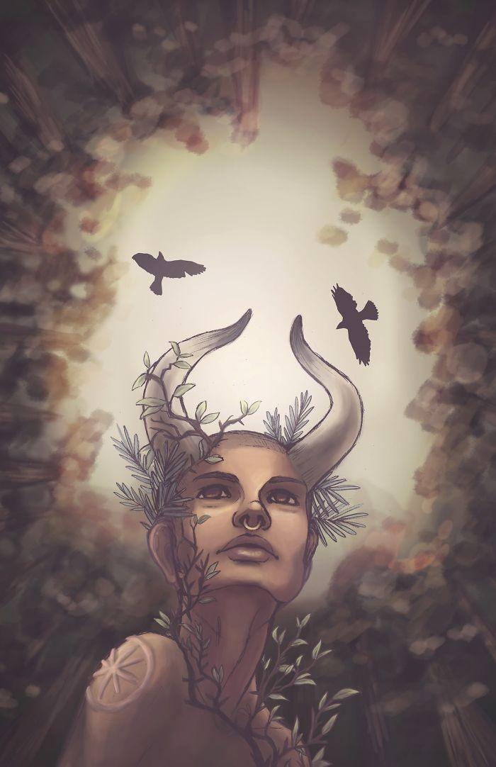 Illustrator Recreates The Zodiacs As Goddesses, Starts
