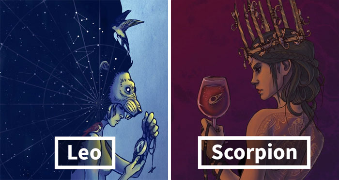 Illustrator Recreates The Zodiacs As Goddesses, Starts Appreciating The Myths Behind The Signs