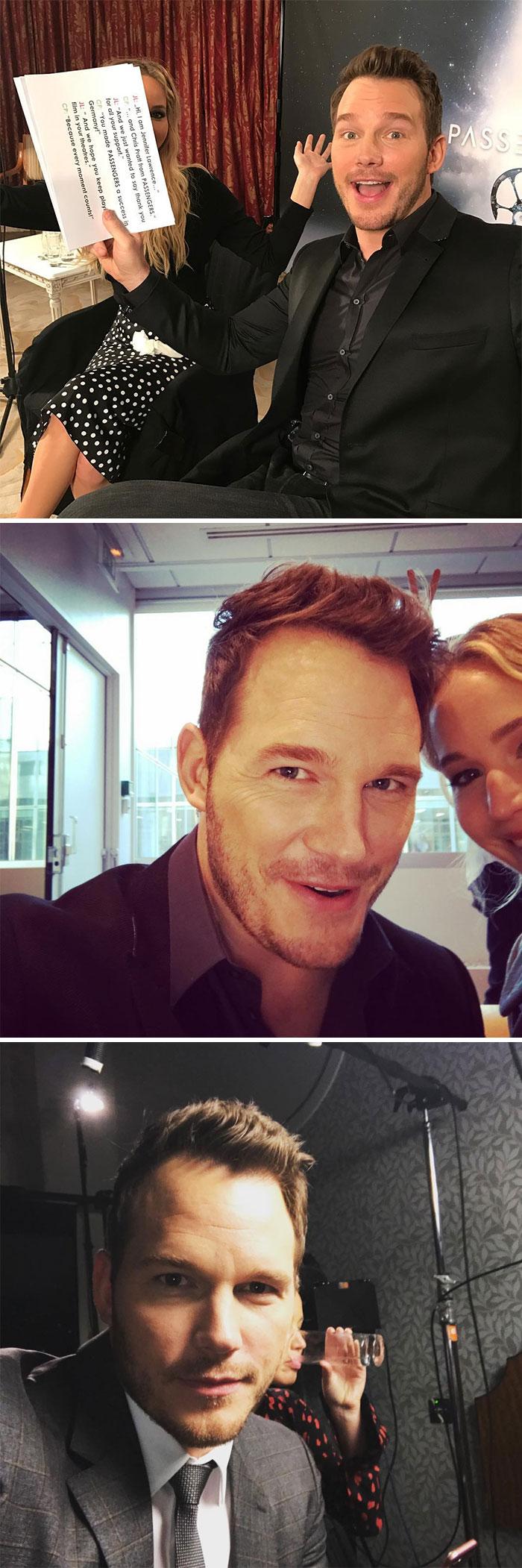 Chris Pratt publicó estas fotos en instagram después de que los fans le pidieran que saliera con Jennifer Lawrence