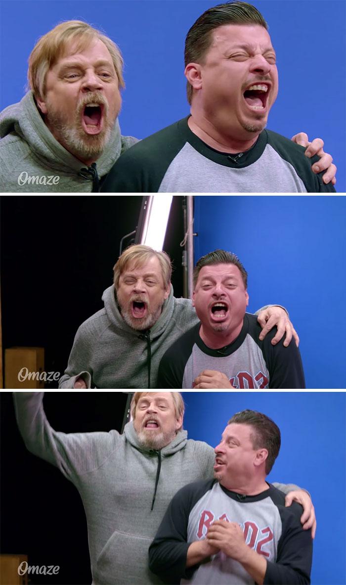 Mark Hamill gastando una broma a fans de la Guerra de las Galaxias