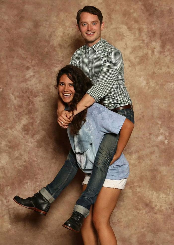 Foto épica con Elijah Wood