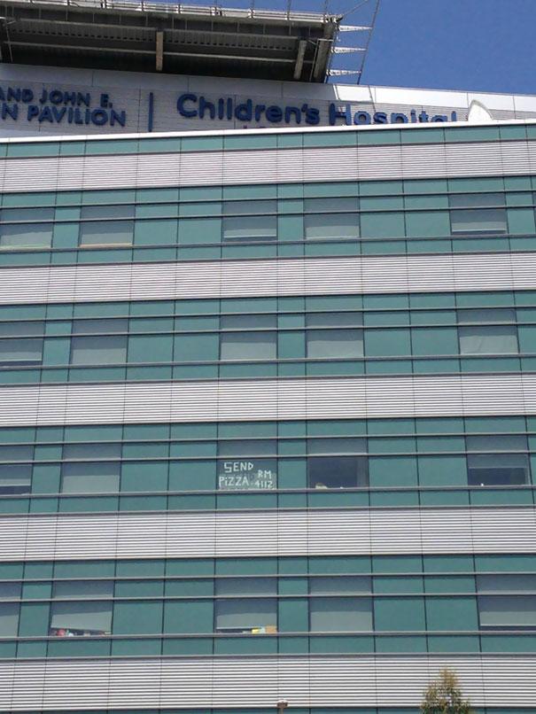 Photo Taken Outside Children's Hospital In Los Angeles. Smart Kid