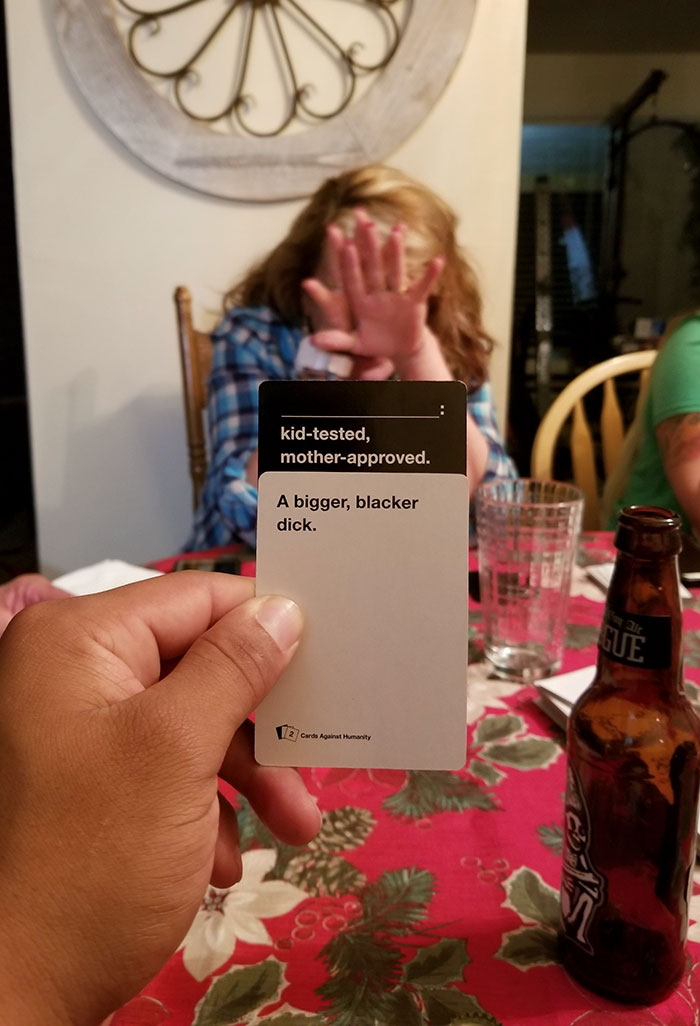 My Girlfriend's Mom Definitely Won This Round Of Cards Against Humanity. Totally Am A Black Guy. I Love Our Families