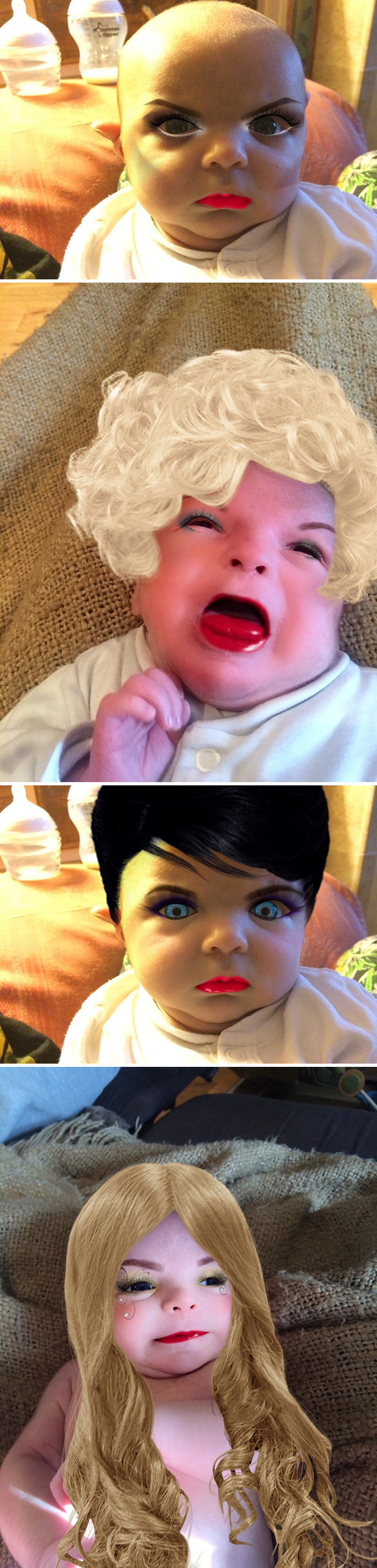 I Used A Make Up App On My 7 Week-Old-Son
