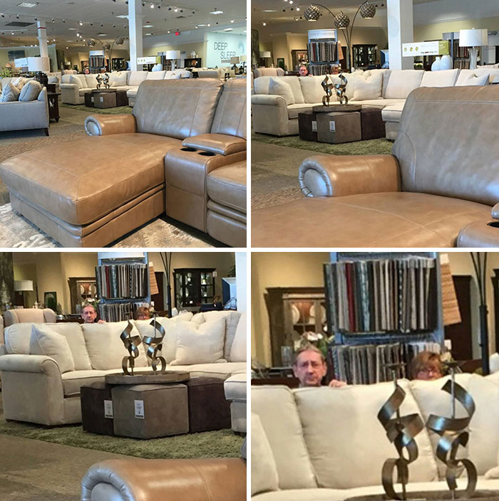Mom Went Couch Shopping. She Sent My Sister A Pic When We Noticed Something