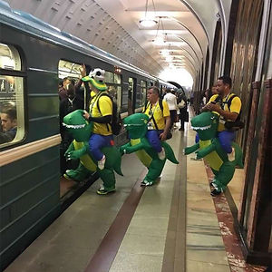 Brazilians In The Moscow Metro