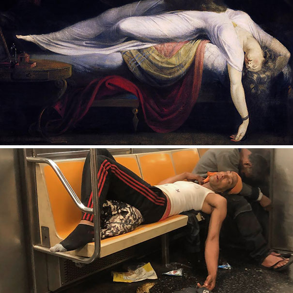 Sleeping Dude On My Train This Morning Reminded Me Of Renaissance Art And So I Found The Perfect Painting. Such Beauty And Grace