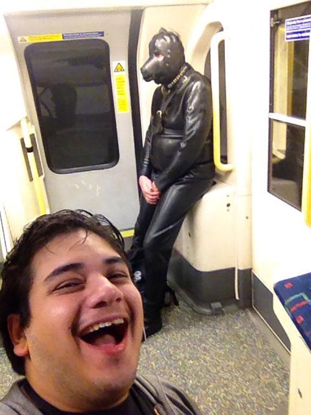 Gimp Suit On The Subway