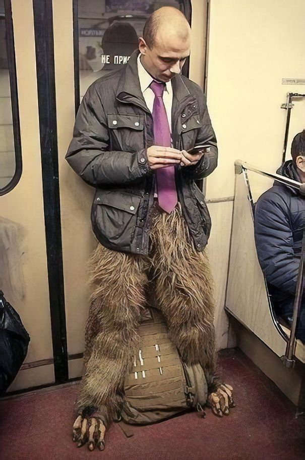Just A Business Man Riding The Subway In Moscow