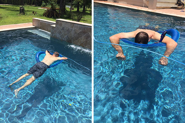 My Dad Bought A Snorkel For The Sole Purpose Of Taking Naps In The Pool. Future Is Here