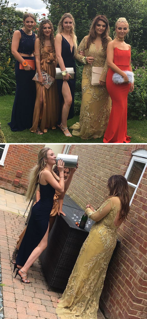 Still Don't Know How I Got Away With A Huge Hip Flask As My Prom Clutch