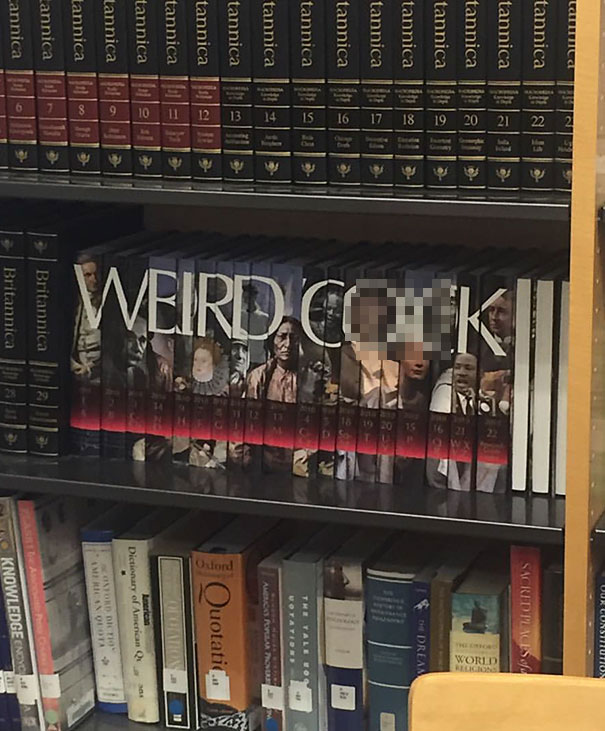 """Someone Rearranged The """"World Book"""" Encyclopedia At My High School"""