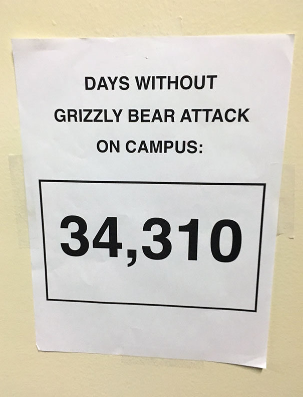 A Sign In My School Today