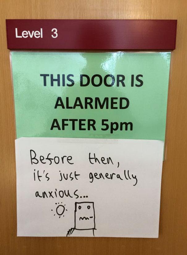 On A Door At University