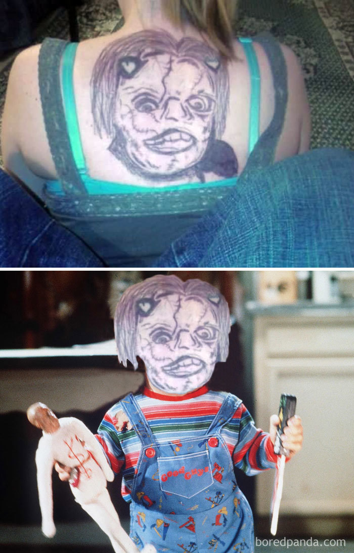 I Don't Know What Is More Terrifying: The Real Chucky Or This Tattoo